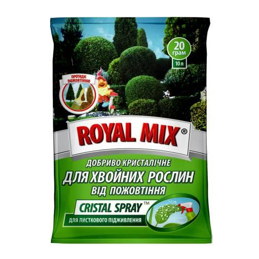 Royal Mix cristal spray для хвойных от пожелтения