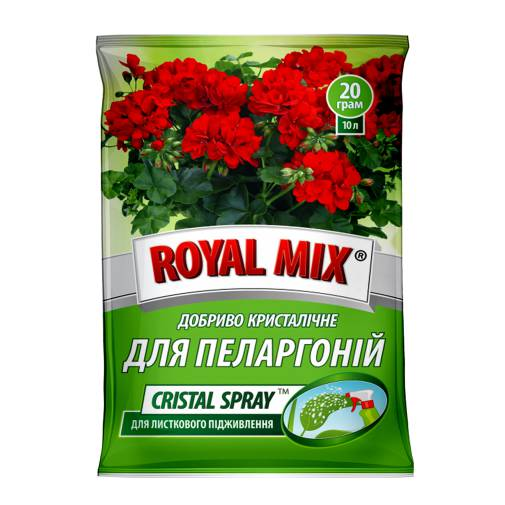 Royal Mix сristal spray для пеларгоній